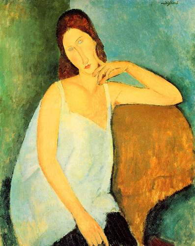 Modigliani - Portrait of Jeanne Hebuterne [4]